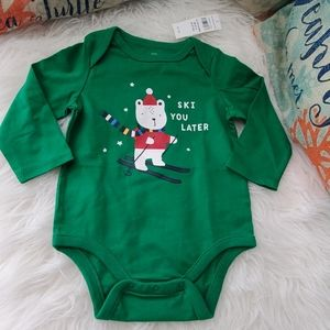 BNWT baby GAP Green Longsleeve Body Suit